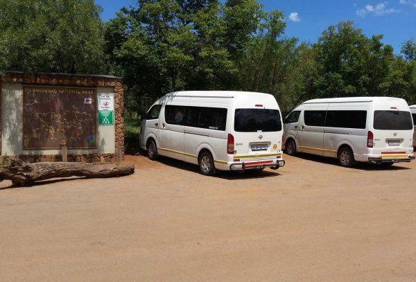 Closed Vehicles at Pilanesberg Lunch Stop